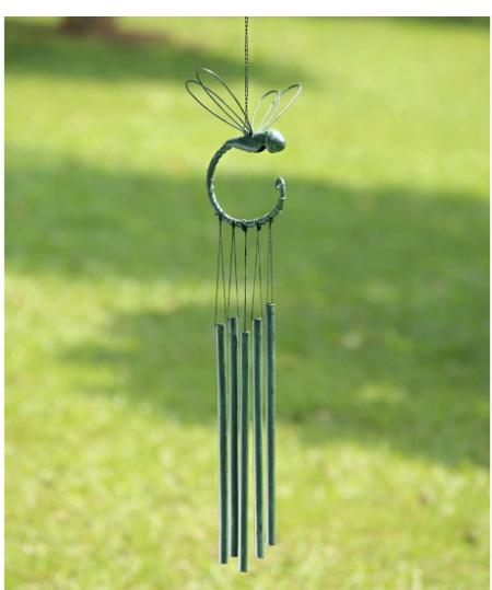 Dragonfly Tube Windchime SPI Home & Garden