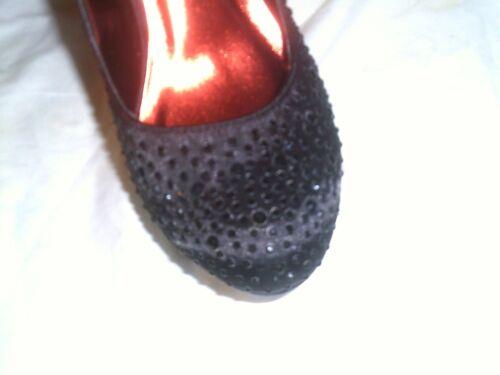 Collection tamaño De zapatos Nuevo 5 Black pulgadas Sparkle tacones 8 Blossom OwqwA5f