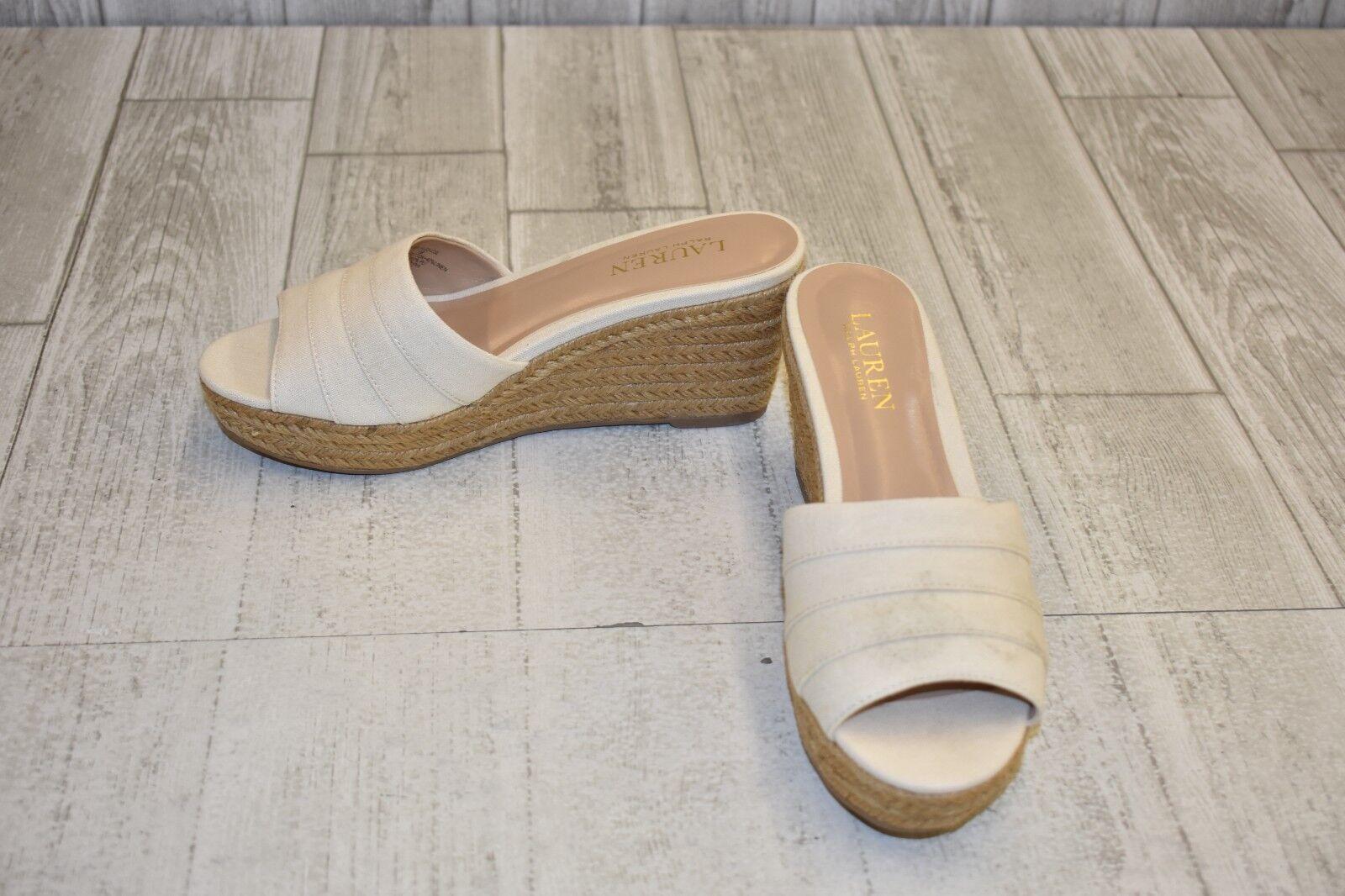 LAUREN Ralph Lauren Karlia Sandals - Women's Size 7.5 B - Cream