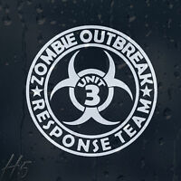 Zombie Outbreak Response Team Unit 3 Car Decal Vinyl Sticker For Panel Bumper
