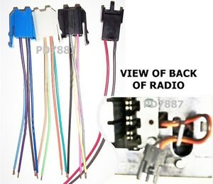 Details about GM DELCO 4 CONNECTOR RADIO WIRE HARNESS 78-93 CORVETTE on