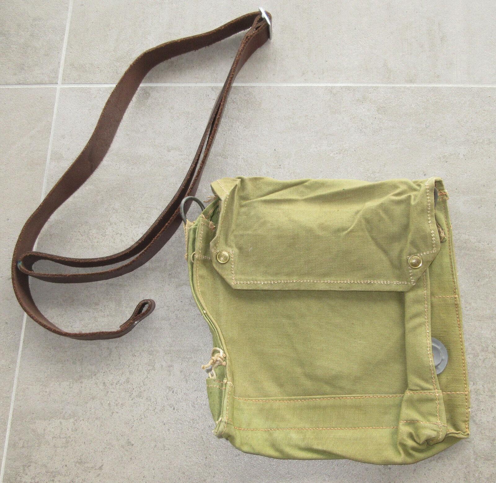 INDIANA JONES Sacoche British bag WW2 Original Respirator Bag Canvas Militaria