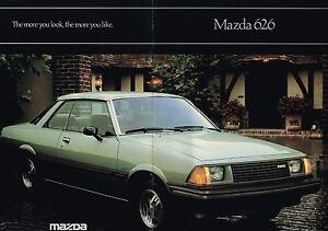 1981-MAZDA-626-Sales-Brochure-Catalog-LUXURY-SPORT-COUPE-SEDAN