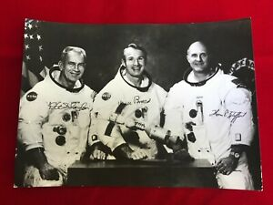Space Independent Astp Apollo Astronauts T.stafford,d.slayton And V.brand Hand Signed Photo