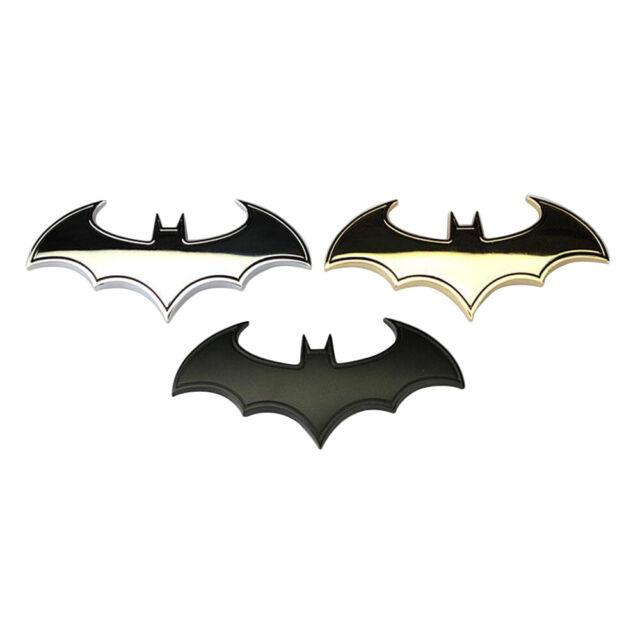 Tail Decals Auto Car Motorcycle Logo Sticker Chrome Metal Badge Emblem Batman 3D