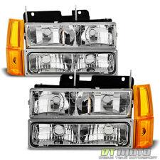 1994-1998 GMC Sierra C/K Pickup Suburban Yukon Headlights+Bumper+Corne Lights