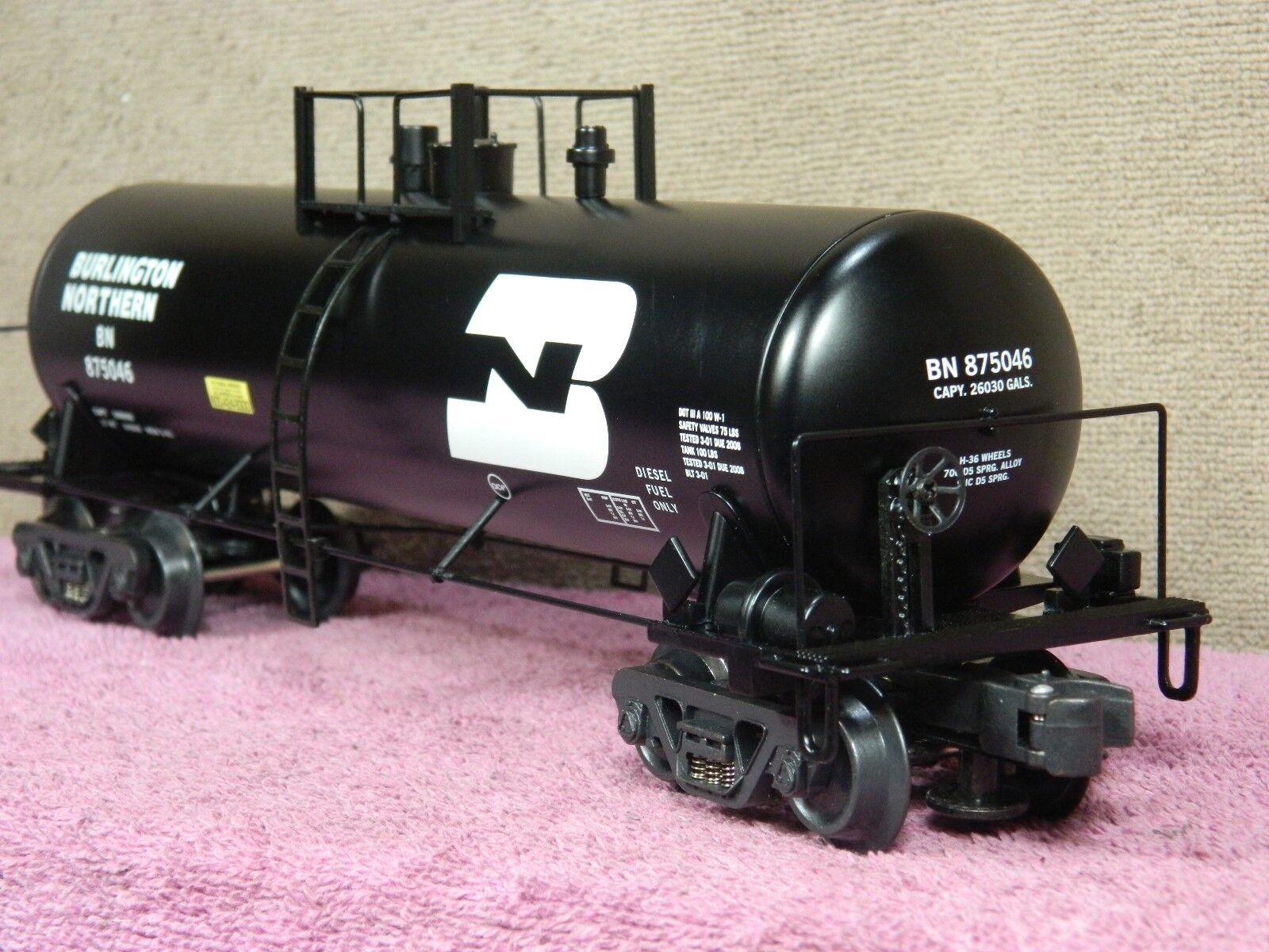 K-LINE SCALE  K-90014 BURLINGTON NORTHERN UNIBODY ALUMINUM TANK CAR  NIB