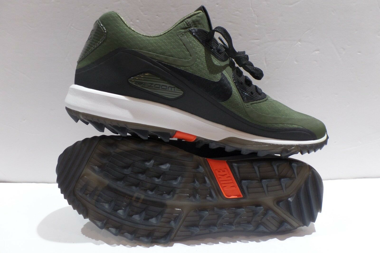 Nike Air Zoom 90 IT 844569 300 Cargo Khaki Black size 9 Golf Shoe NEW Rory