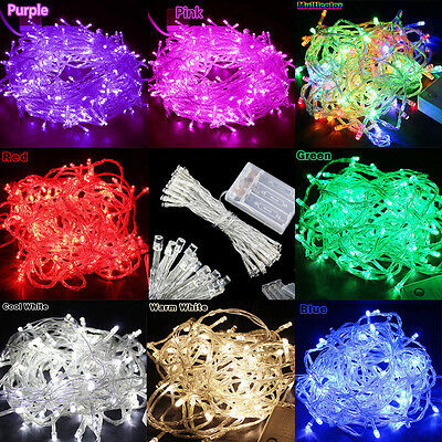 2/3/4/5/10M Christmas Garden Party Wedding String Fairy Lights Battery Operated