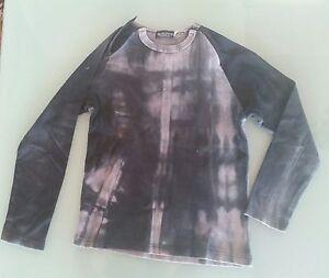 Maglia-T-shirt-manica-lunga-donna-Skelton-colore-grigio-taglia-M-con-zip