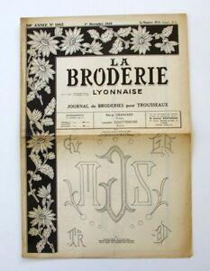 La Broderie Lyonnaise N°1162 - 1958 - Broderies Pour Trousseaux - Alphabet - 4tn2ckur-07170114-388617271