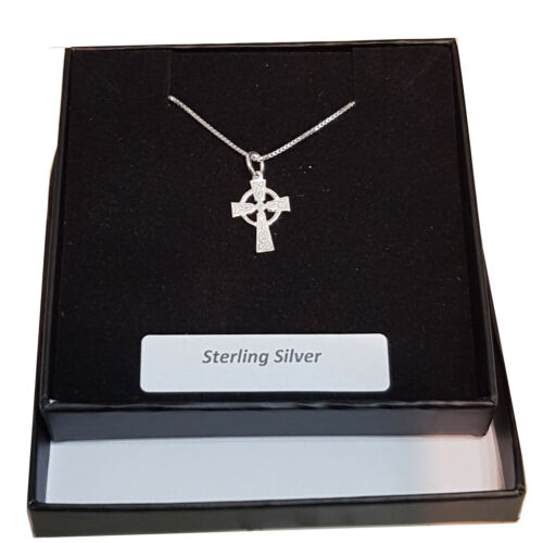 chain gift box Small Celtic Cross Sterling Silver for Children Babies options