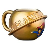 Official DC Comics Superman Gold 3D Daily Planet Design Ceramic Mug - Boxed New