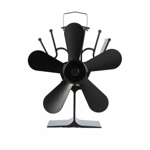 Thermal Power Fireplace Fan Heat Powered Wood Stove Fan Five-leaf Fans#^