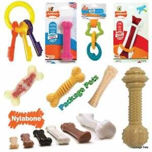 Nylabone-Juguete-Perro-Cachorro-denticion-resistente-con-sabor-CHEWS-huesos-llaves-la-salud-dental