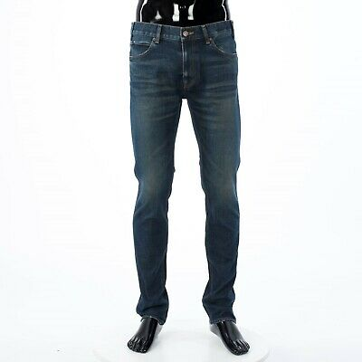 DOLCE /& GABBANA 895$ Skinny Jeans With Side Bands In Blue Stretch Denim