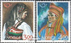 Norwegen-1017-1018-kompl-Ausg-postfrisch-1989-Volkstrachten