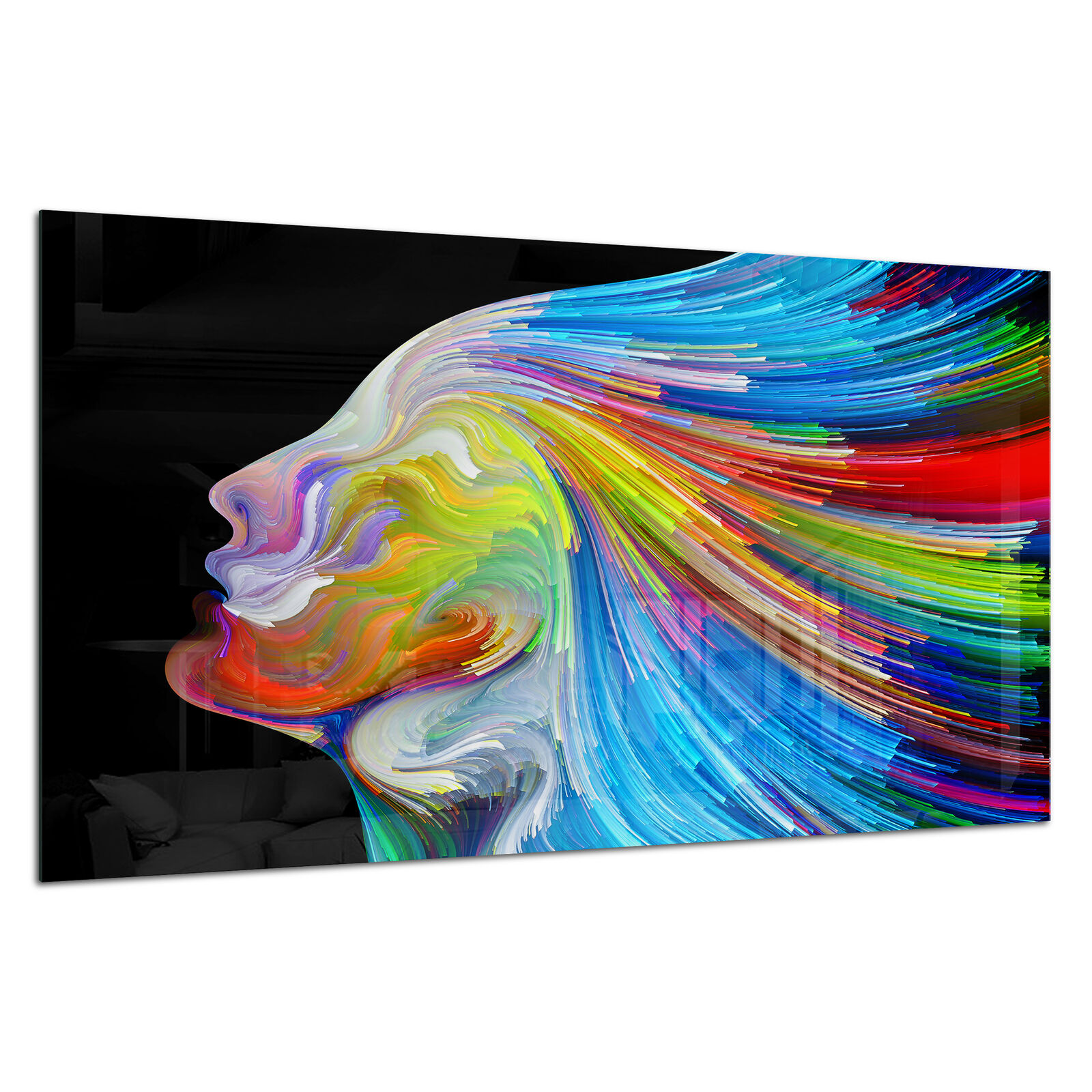 Tempered Glass Photo Print Wall Art Picture Colour Surreal Human Prizma GWA0363