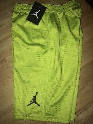 dfee1679287 Nike Boys' Air Jordan Mesh Basketball Shorts 959922 E52 Venom Green ...