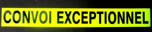Convoi Exceptionnel Sign Fluorescent Magnetic Signage Large