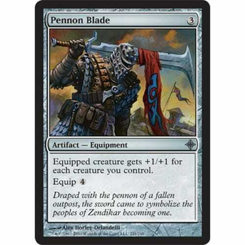 Pennon Blade Excellent MTG RISE OF THE ELDRAZI Condition