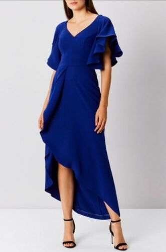 coast Dress Wedding Maxi Blue Uk Frill New Saph 12 Cocktail size Maxi Bnwt dpxwZBd