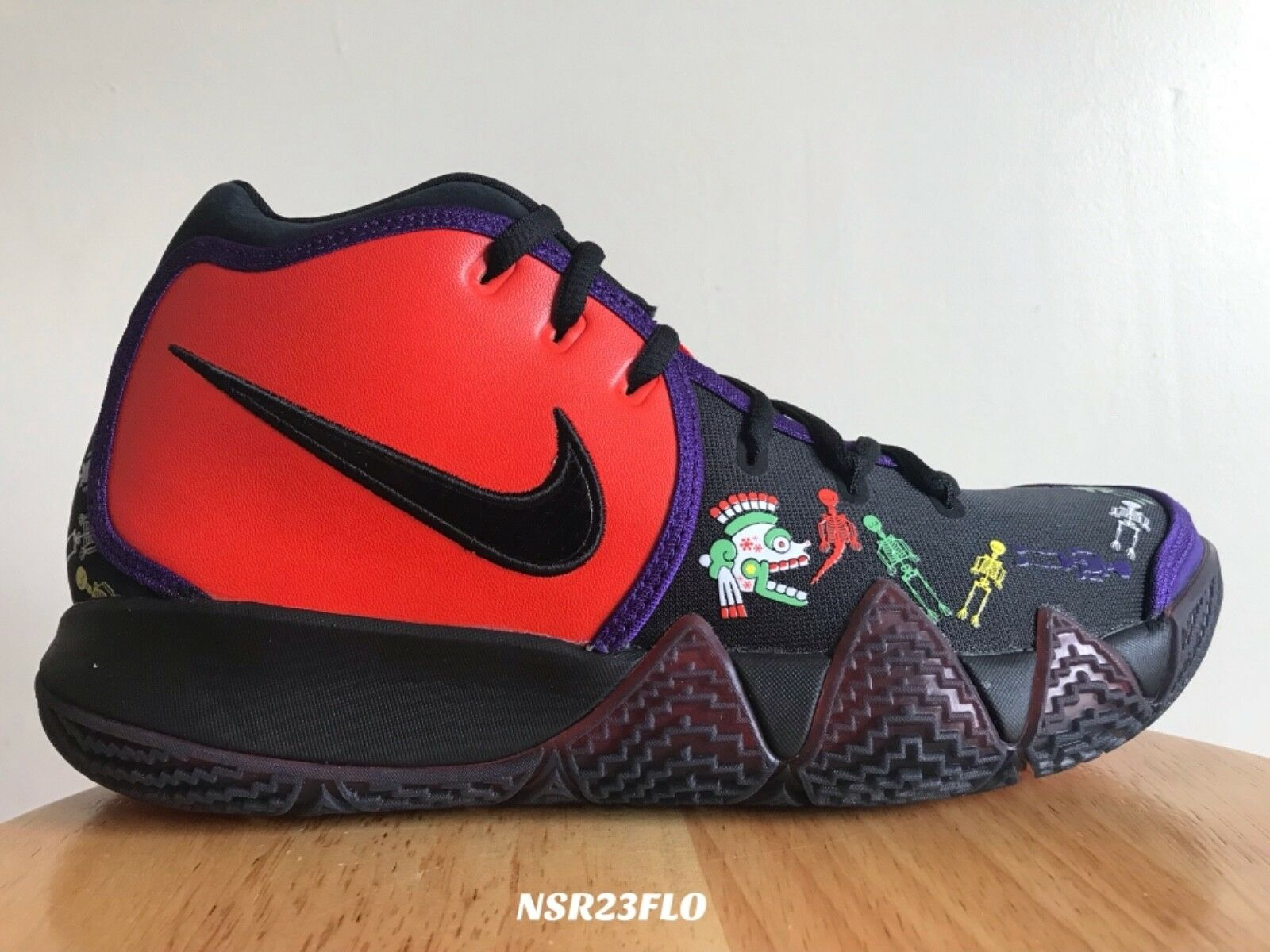 NIKE KYRIE 4 TV PE DAY OF THE DEAD CI0278 800 SIZE 11 BRAND NEW READY TO SHIP