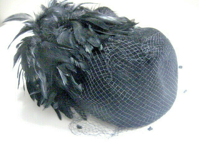 .VINTAGE HAT PLUMES,VEIL,design by Don Anderson