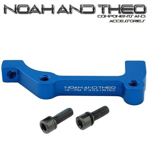 Ultralight Disc Brake Adapter Front 203mm IS Fork to POST PM Brake Caliper BLUE