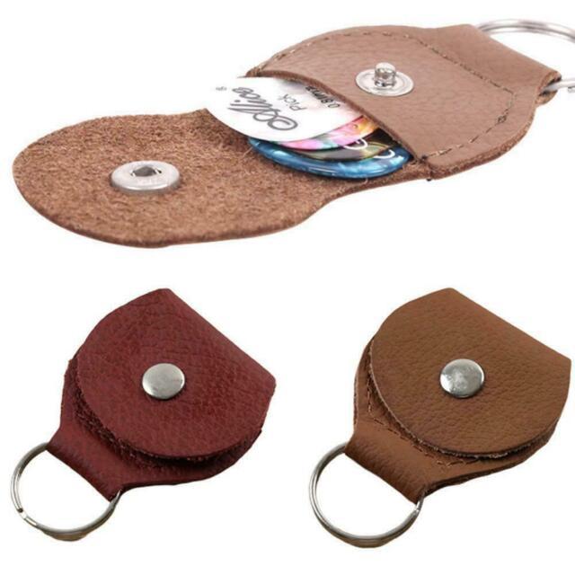 Leather Guitar Pick Holder//Keychain//Picks Case//Instrument//Gifts Hide /& Drink