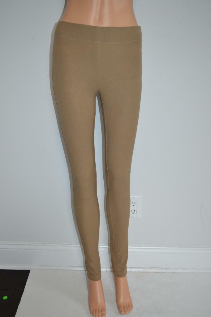 Joseph Dark Beige Khaki Cotton Stretch Pants  Leggings, Größe 34