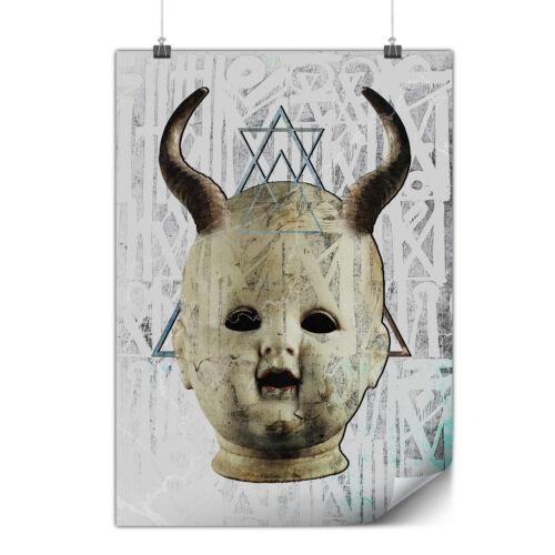 Devil Goth Satan Horror Matte//Glossy PosterWellcoda