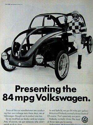 """1974 Volkswagen BEETLE Bug Sulky Original Print Ad--8.5 x 11/"""""""