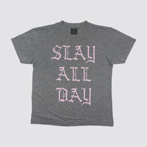 Beyonce Slay All Day T Shirt Gray Adult Large