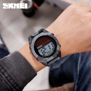 SKMEI Solar Sport Watch Men Teenagers Chrono Alarm LED Digital Wristwatch 1592