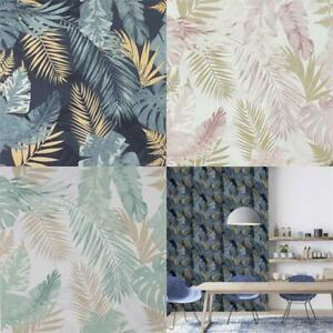 Arthouse-Soft-Tropical-Palm-Leaves-Vinyl-Textured-Wallpaper-10m-Rolls