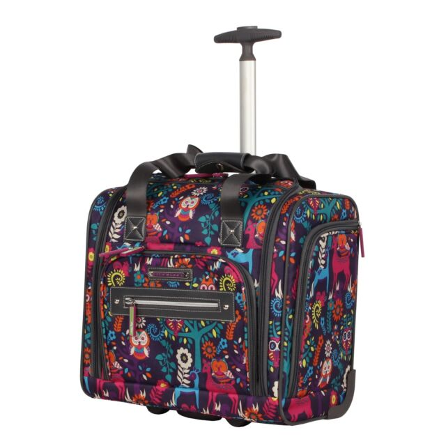 Lily Bloom Under The Seat Design Pattern Carry On Bag With Whee 2day Delivery For Sale Online Ebay