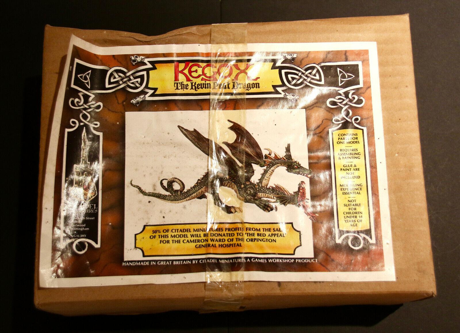 Citadel GW warhammer ad&d  kegox le Kevin tourbe Dragon  Rare avec Boite  Comme neuf