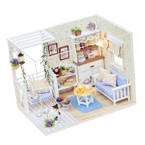 1:24 DIY Handcraft Miniature Project Wooden Dolls House Sweet Kitten Diary