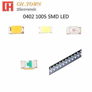 50-100pcs-0402-1005-SMT-SMD-LED-Emitting-Diodes-White-Blue-Light-Lamp-Bulb