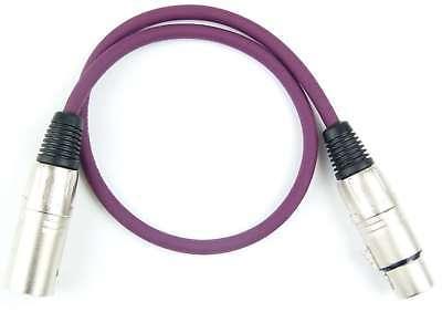 Cables, Leads & Connectors 0,5 M Adam Hall 3-star Mikrofonkabel Violett Lila 3 Pol Xlr Dmx Kabel Patchkabel Audio For Video