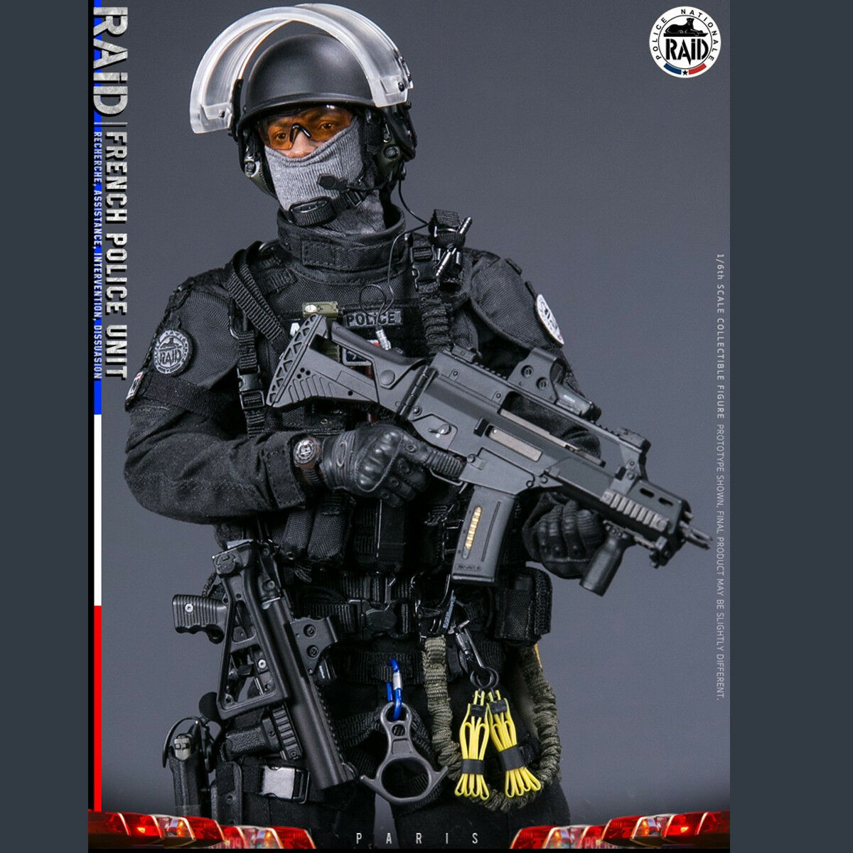 DAMTOYS 1/6th 78061 French Police Unit - RAID In Paris Action Figure Collectible