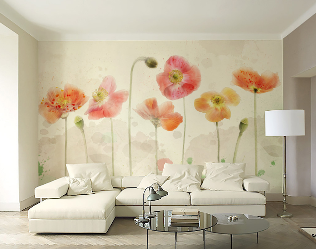 3D Petal Painted Painted Painted 52 Wallpaper Murals Wall Print Wallpaper Mural AJ WALL AU Lemon b4a679