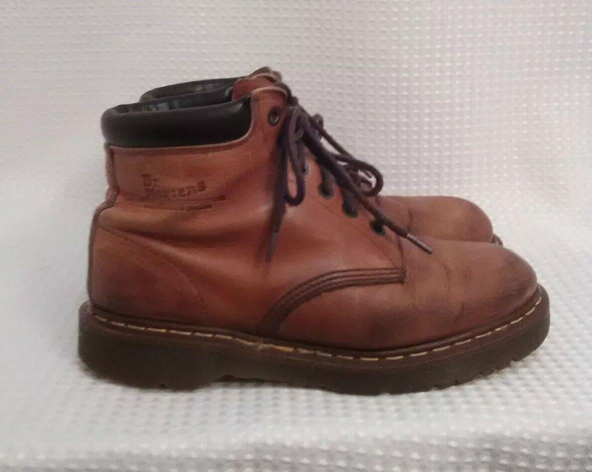 botas Dr Martens Vintage Marrón Cuero Cojín Suela tamaño 11 hecho Air en Inglaterra