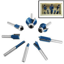 """9pc Router Bit Set 1/4"""" Shank Wood Carving Cutting Design Tungsten Carbide Tool"""