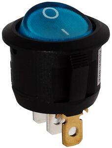 Interrupteur Commutateur Contacteur Bouton à Bascule Bleu Spst On-off 10a/250v Exquis (En) Finition