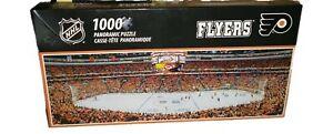 PHILADELPHIA FLYERS PANORAMIC JIGSAW PUZZLE 1000 PC NHL WELLS FARGO CENTER