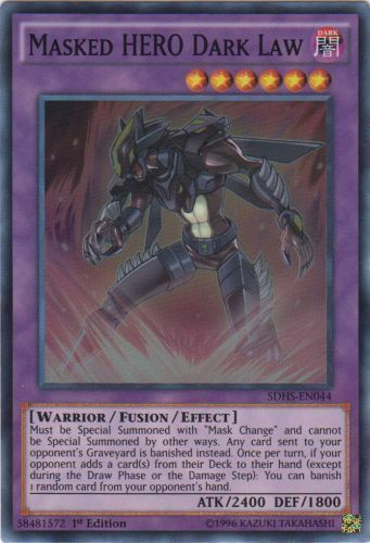 MINT//NM YUGIOH *** MASKED HERO DARK LAW *** SDHS-EN044 SUPER RARE 3 AVAILABLE