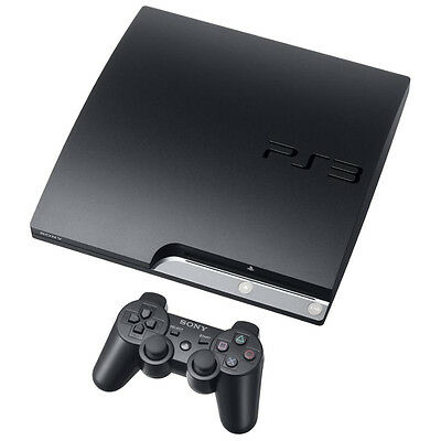 Sony PlayStation 3 Slim 320 GB Charcoal Black Console Very Good Condition