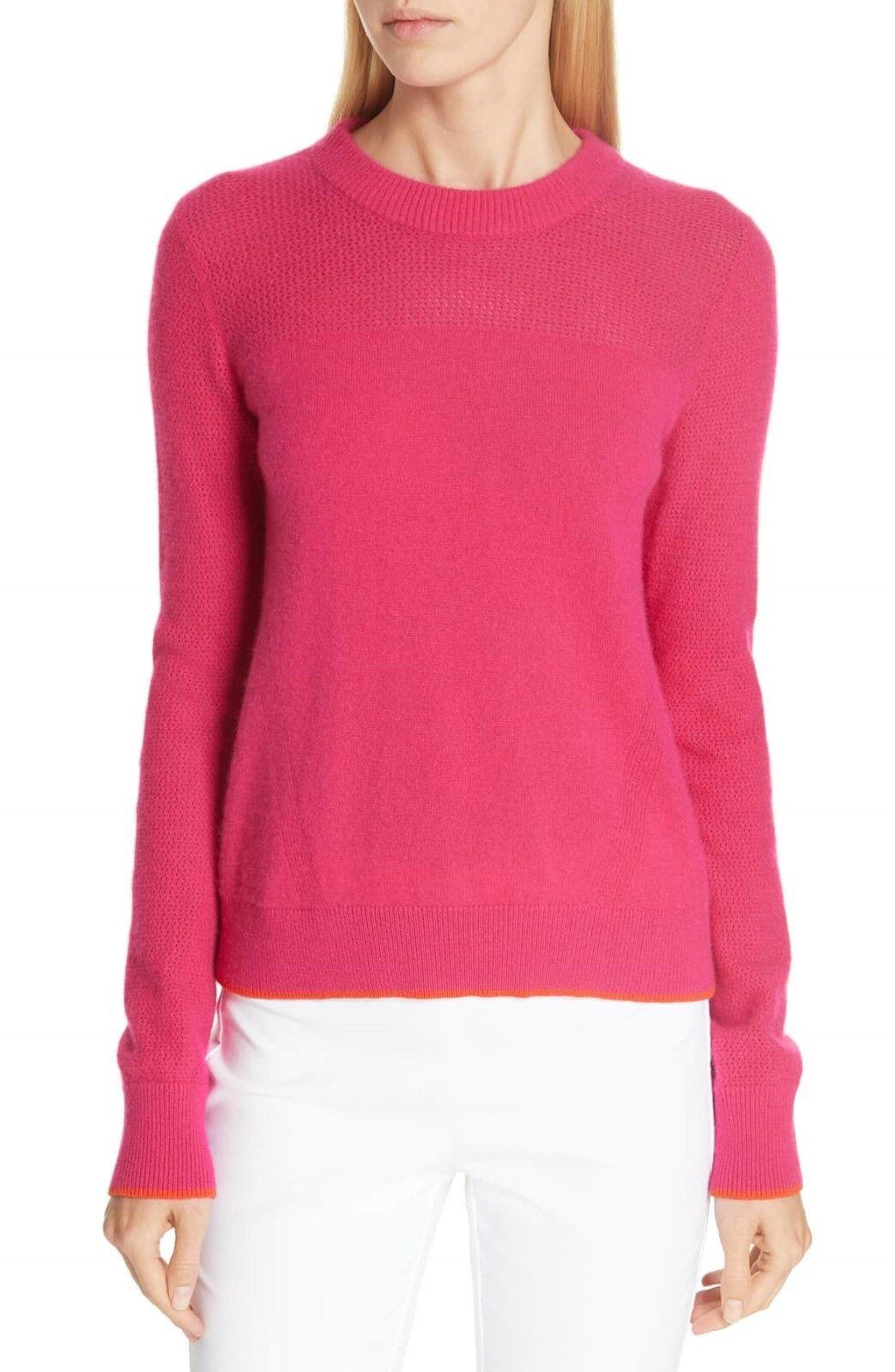 NEW Rag & Bone Yorke Cashmere Crewneck Sweater in Rosa - Größe S